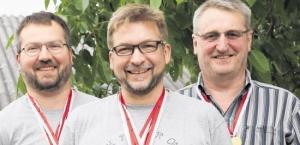 Erfolgreich: Die Reinheimer Schützen Jörg Klock, Wieland Schenkewitz und Winfried Oehlke (von links) waren treffsicher. Foto: Werner Wabnitz